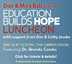 Don & Mira Ball present Education Builds Hope Luncheon 2016